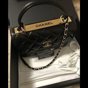 chanel trendy cc lambskin handtop bag sold